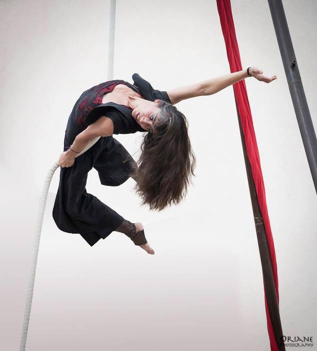 corde lisse acrobatie
