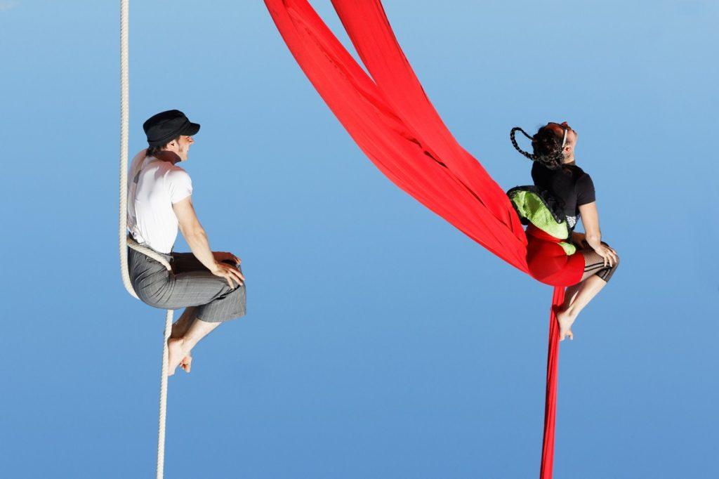 duo tissu cirque